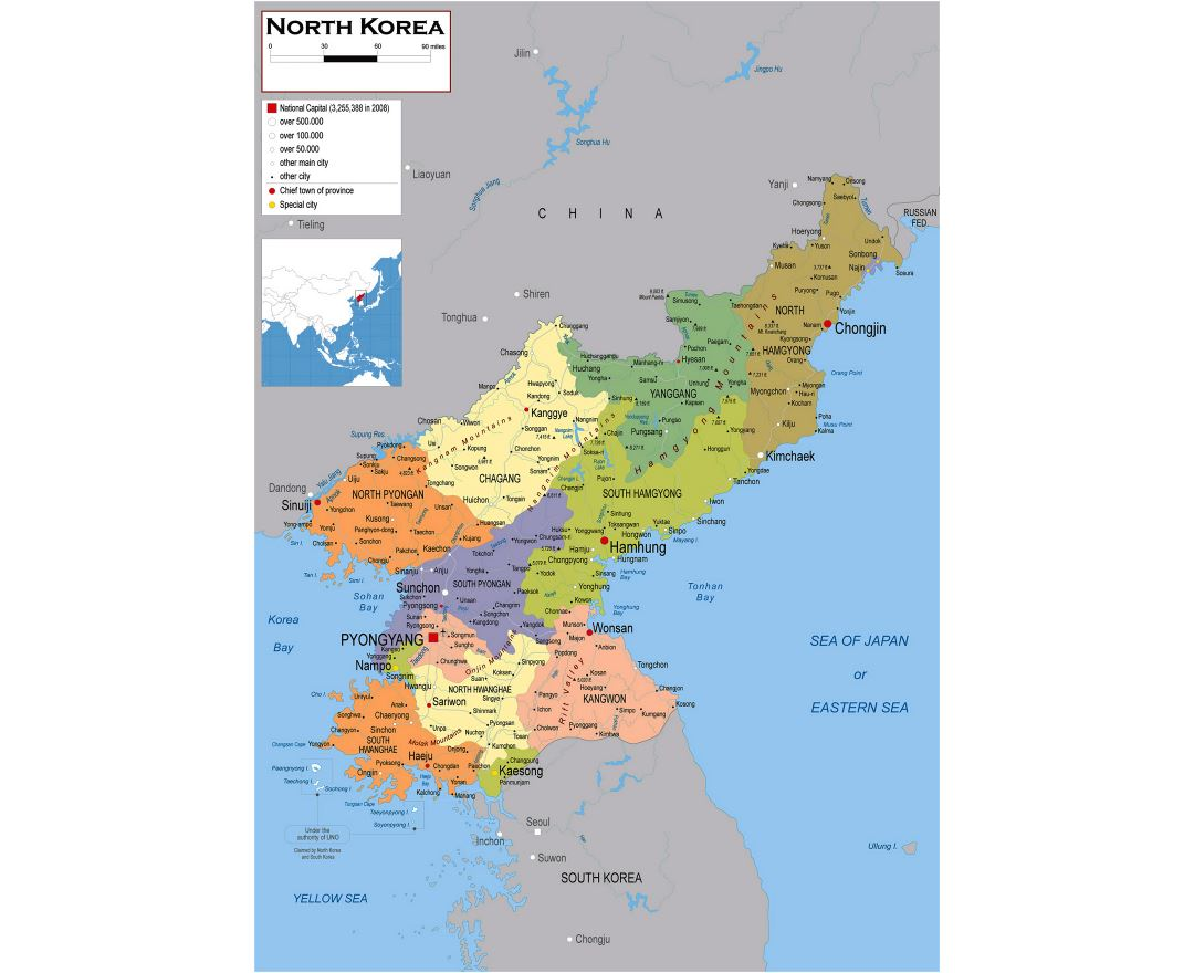 Maps Of North Korea Collection Of Maps Of Dprk Asia Mapsland