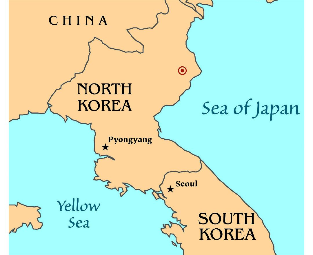 Map of North Korean nuclear test - 2006