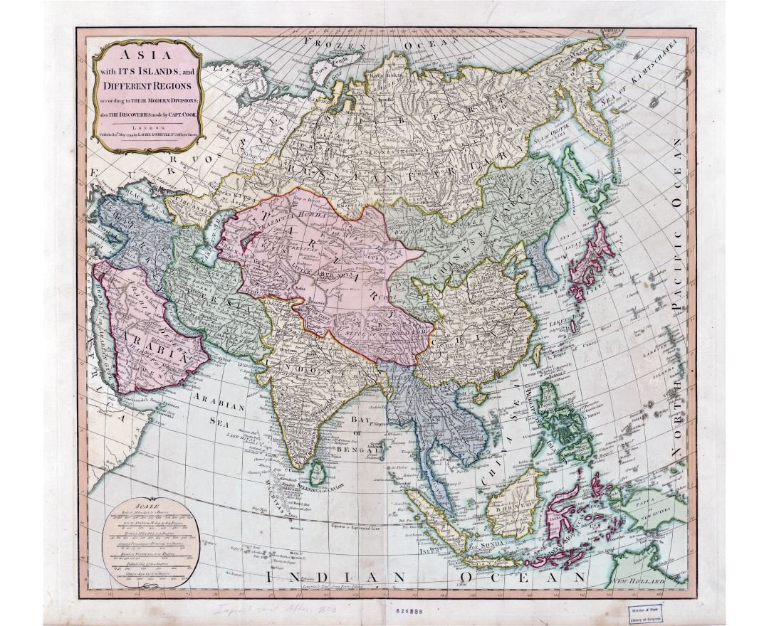 Map Of Modern Asia.Old Maps Of Asia Collection Of Old Maps Of Asia From Different