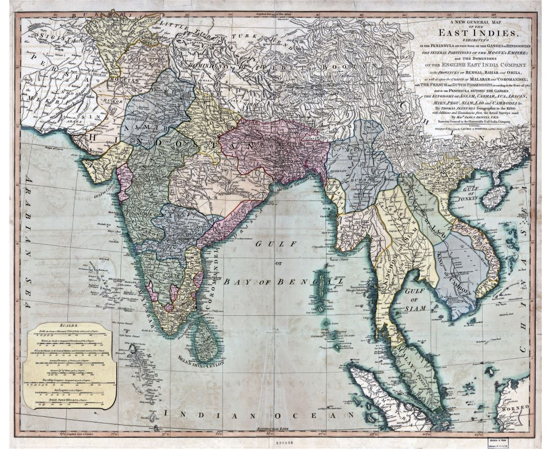 Large scale antique general map of the East Indies - 1794