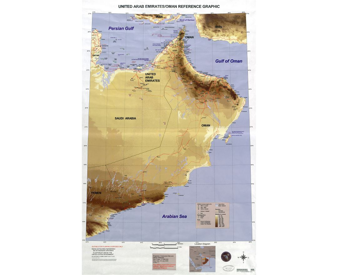 Maps of Oman Detailed map of Oman in English Tourist map