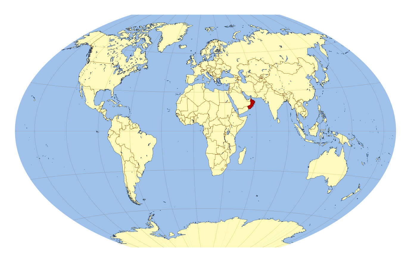 Large location map of Oman Oman Asia Mapsland Maps of the World