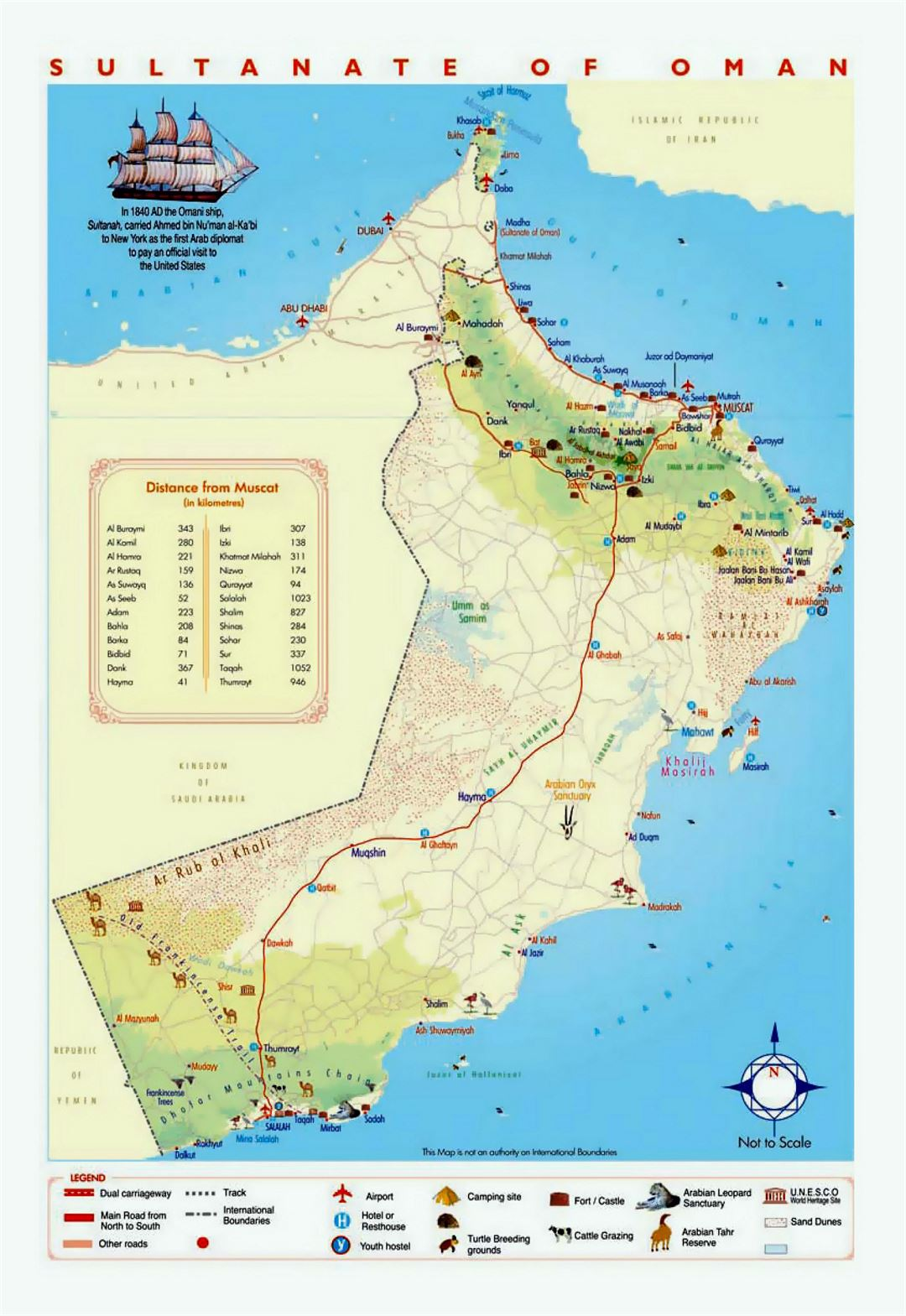 oman tourist map gallery