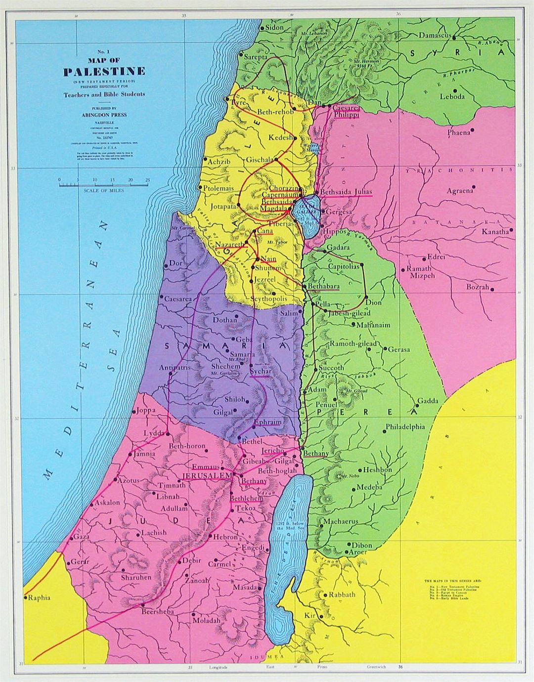 Detailed map of Palestine New Testament Period