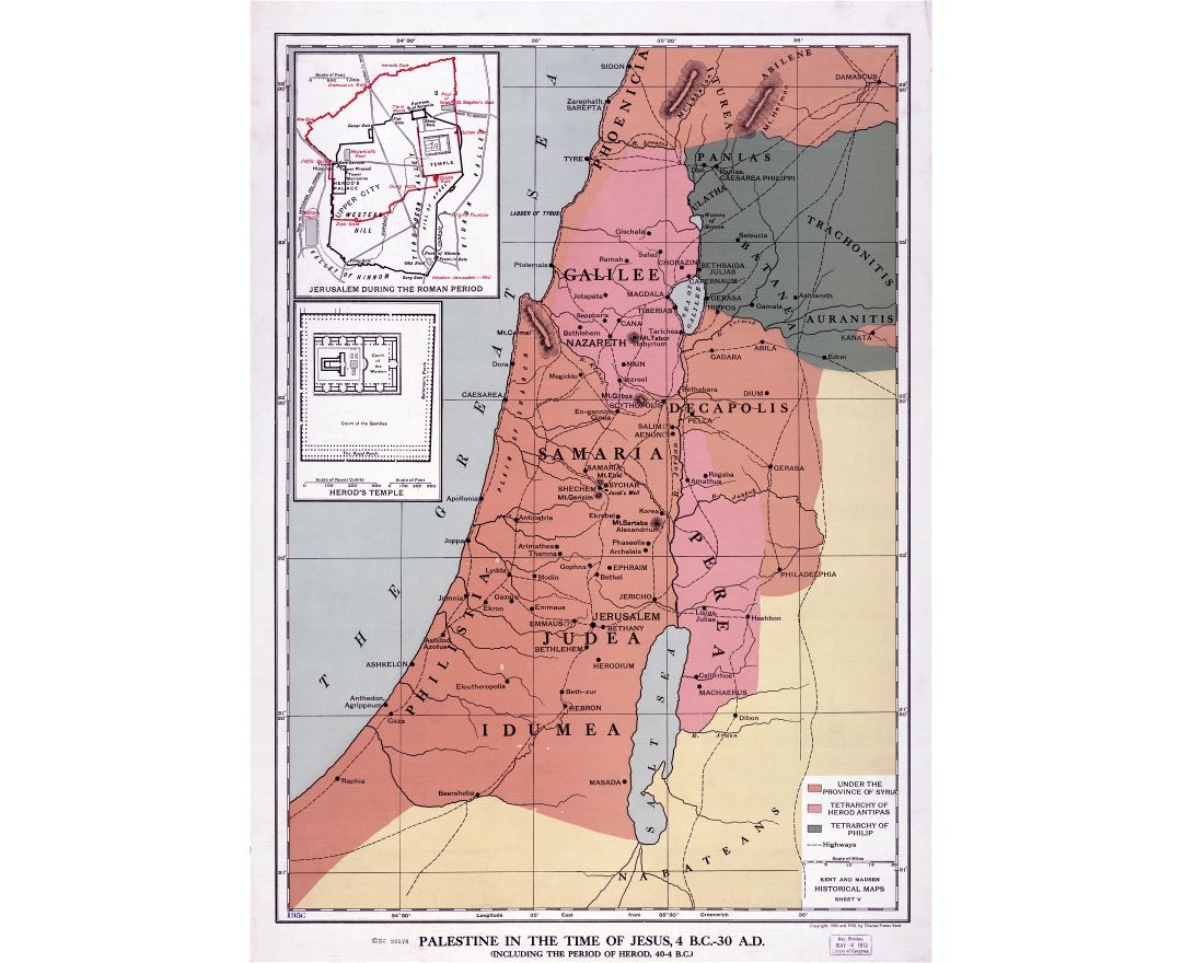 Maps of Palestine Detailed map of Palestine in English Tourist