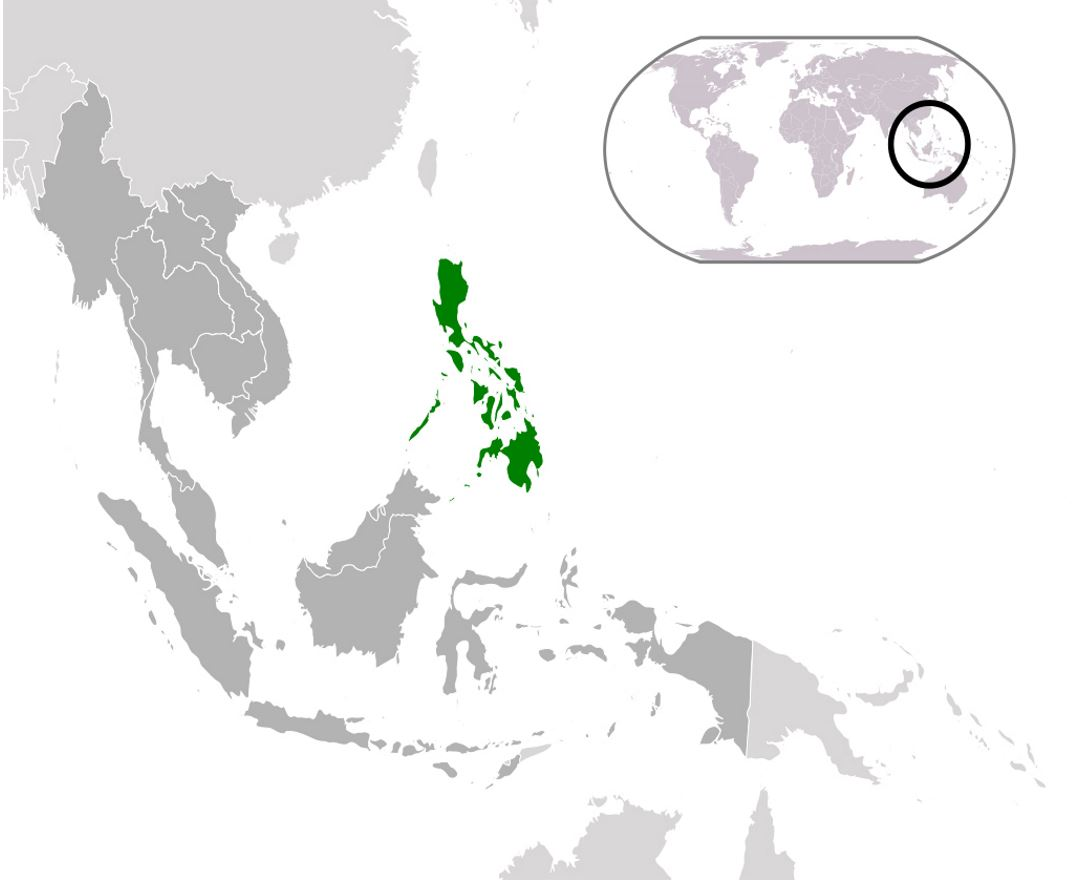 Detailed location map of Philippines
