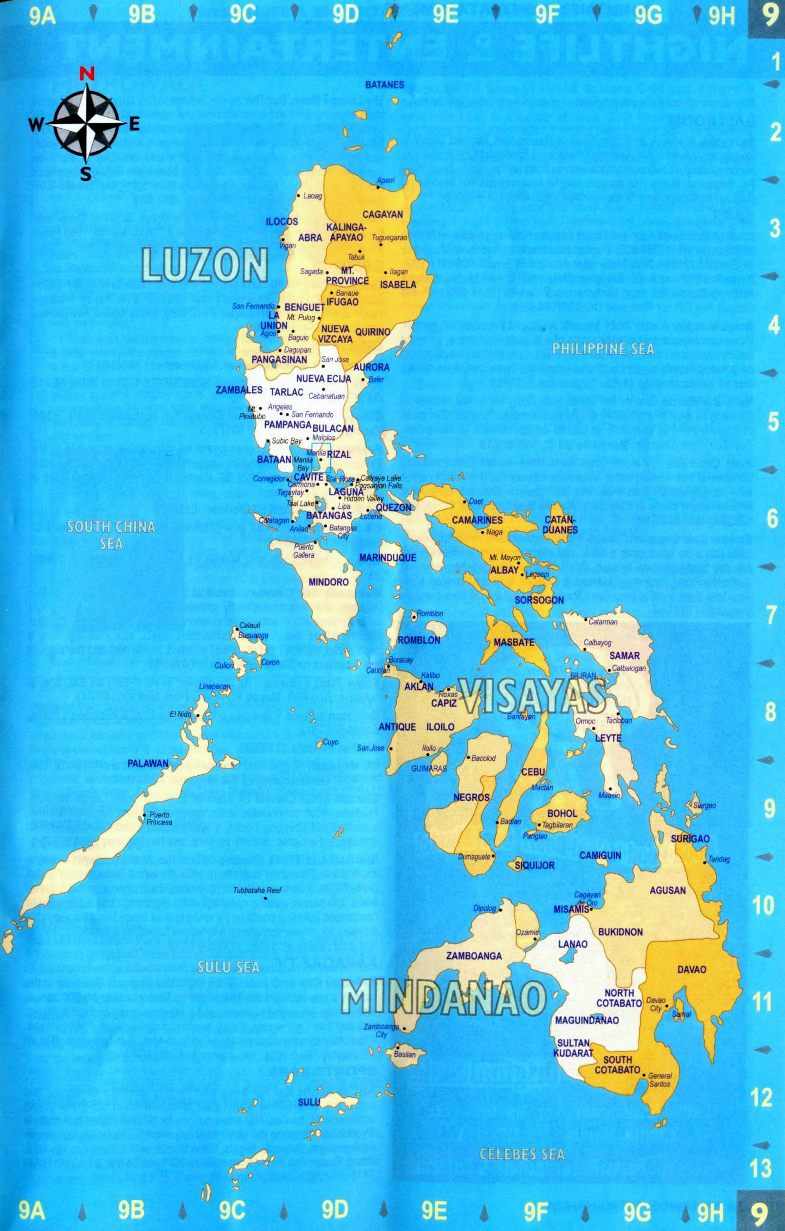 Map 9f Asia.Large Administrative Map Of Philippines With Major Cities