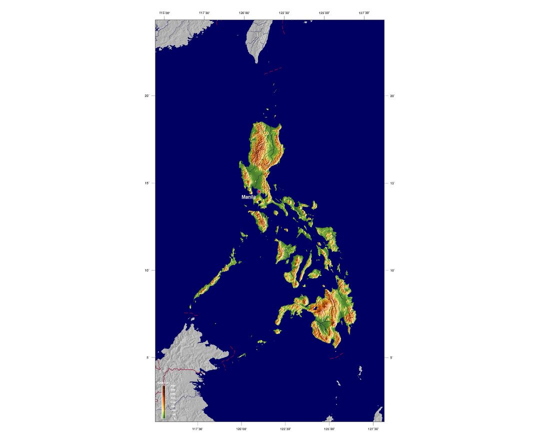 Maps of philippines detailed map of philippines in english large relief map of philippines gumiabroncs Gallery