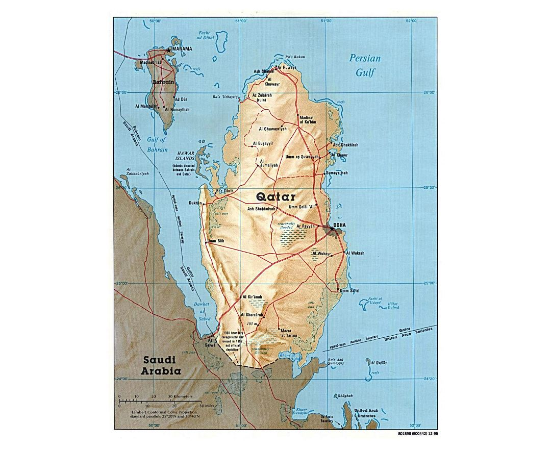 Maps of Qatar Detailed map of Qatar in English Tourist map