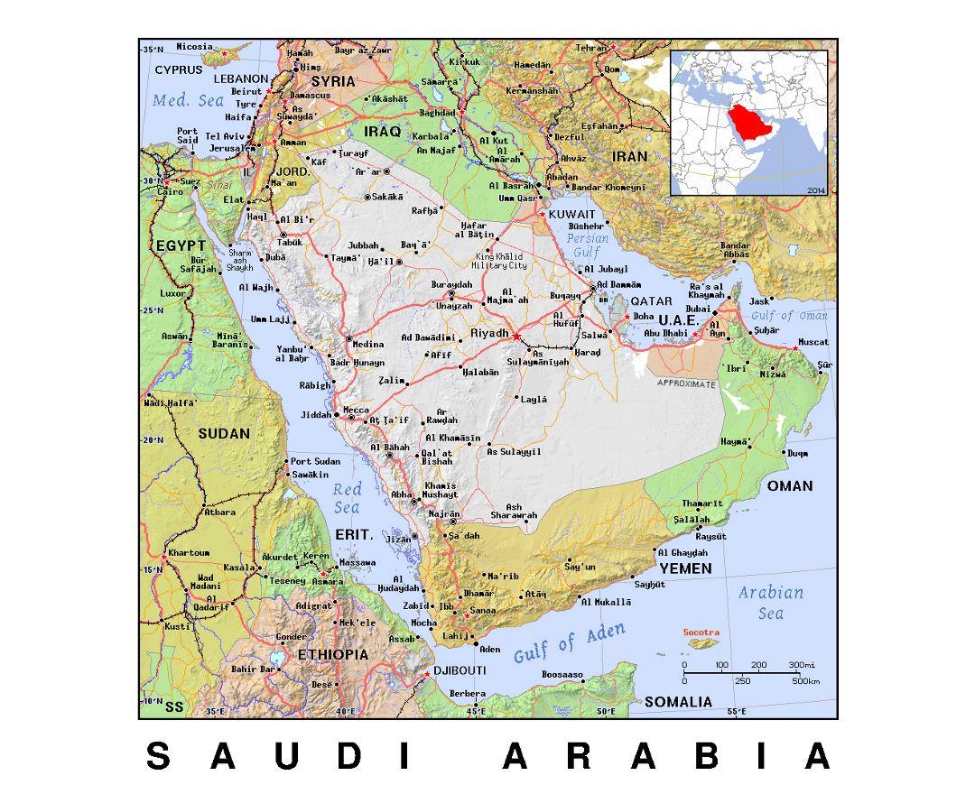 Maps of Saudi Arabia Detailed map of Saudi Arabia in English