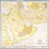 Large scale detailed elevation map of the Middle East
