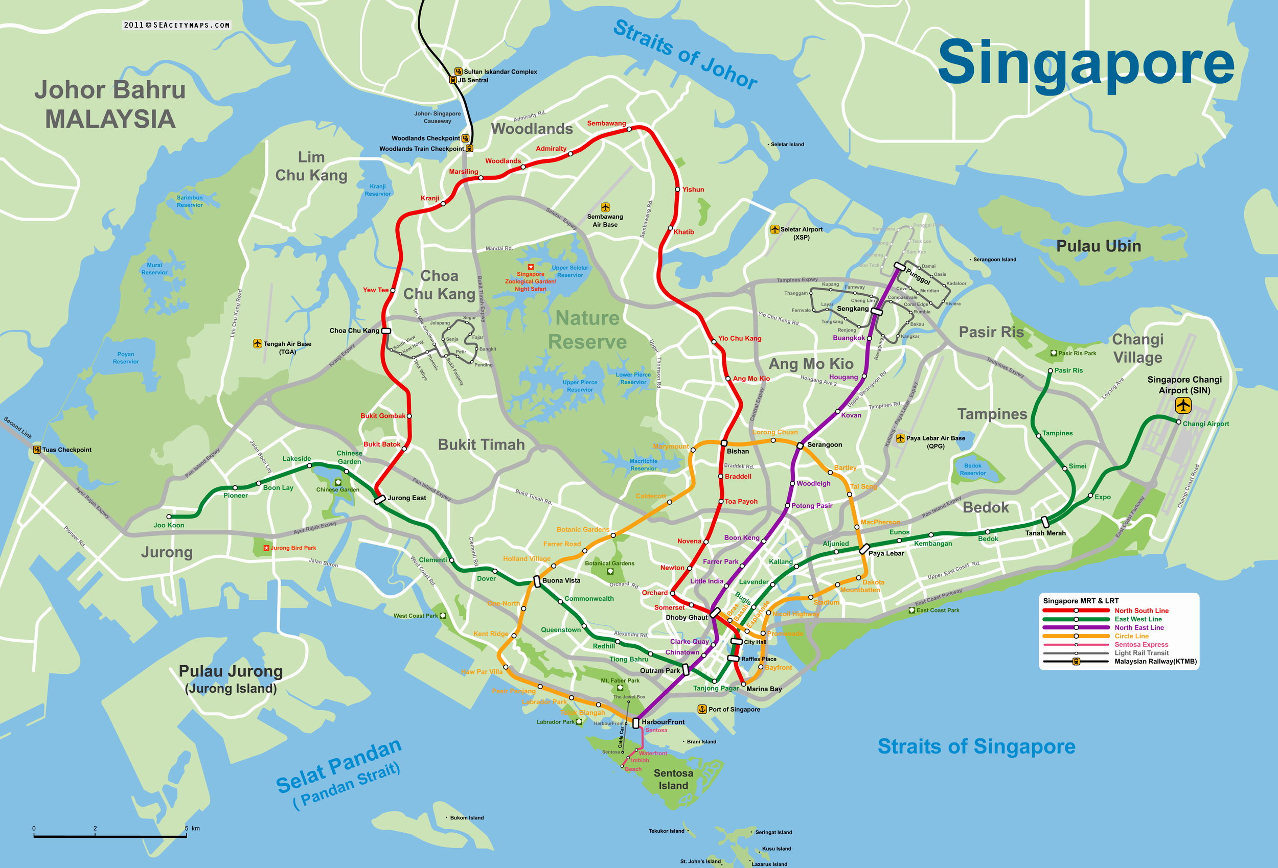 Singapore On The Map Of Asia.Large Mrt And Lrt Map Of Singapore Singapore Asia Mapsland