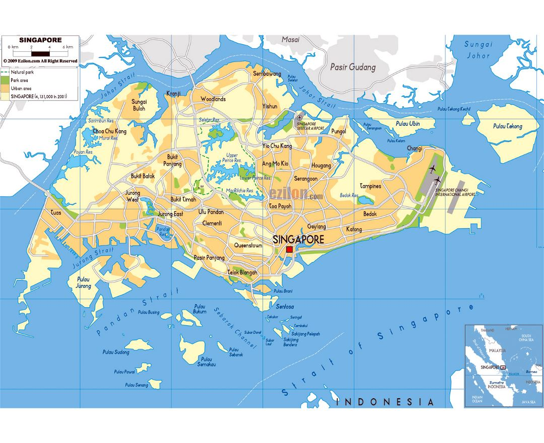Map Of Asia Showing Singapore.Maps Of Singapore Collection Of Maps Of Singapore Asia