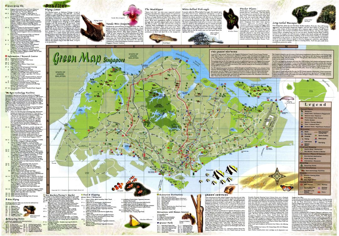 Large scale tourist map of Singapore