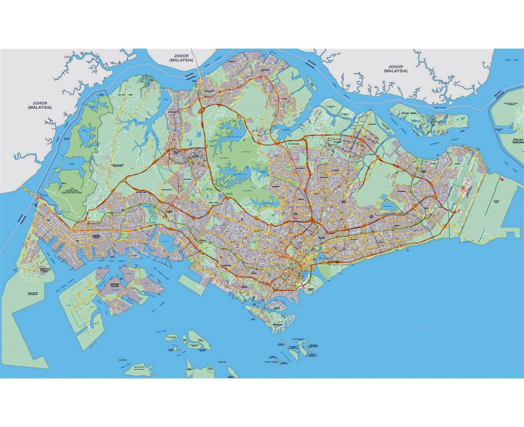 Large Singapore road map