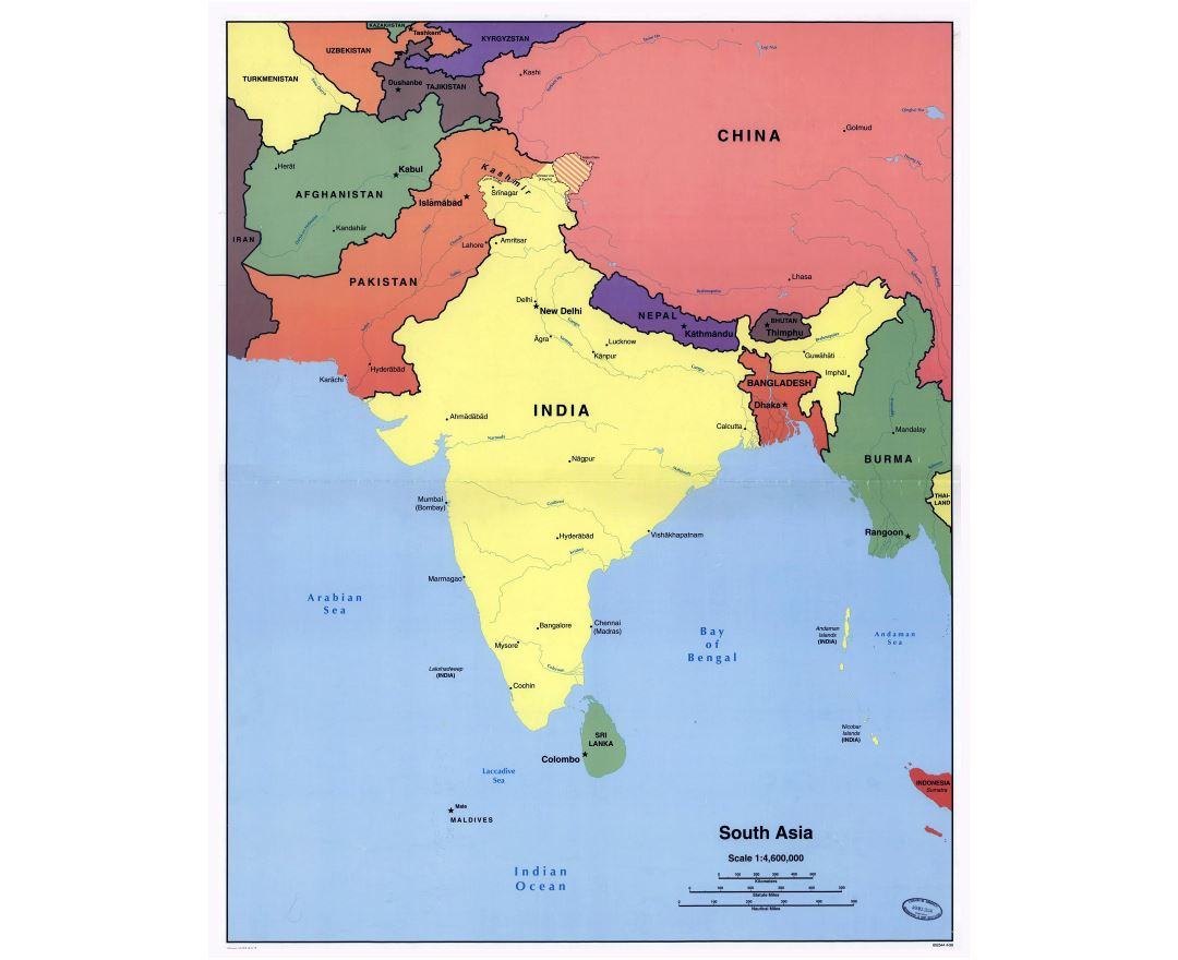 Detailed Map Of Asia.Maps Of South Asia Collection Of Maps Of South Asia Asia