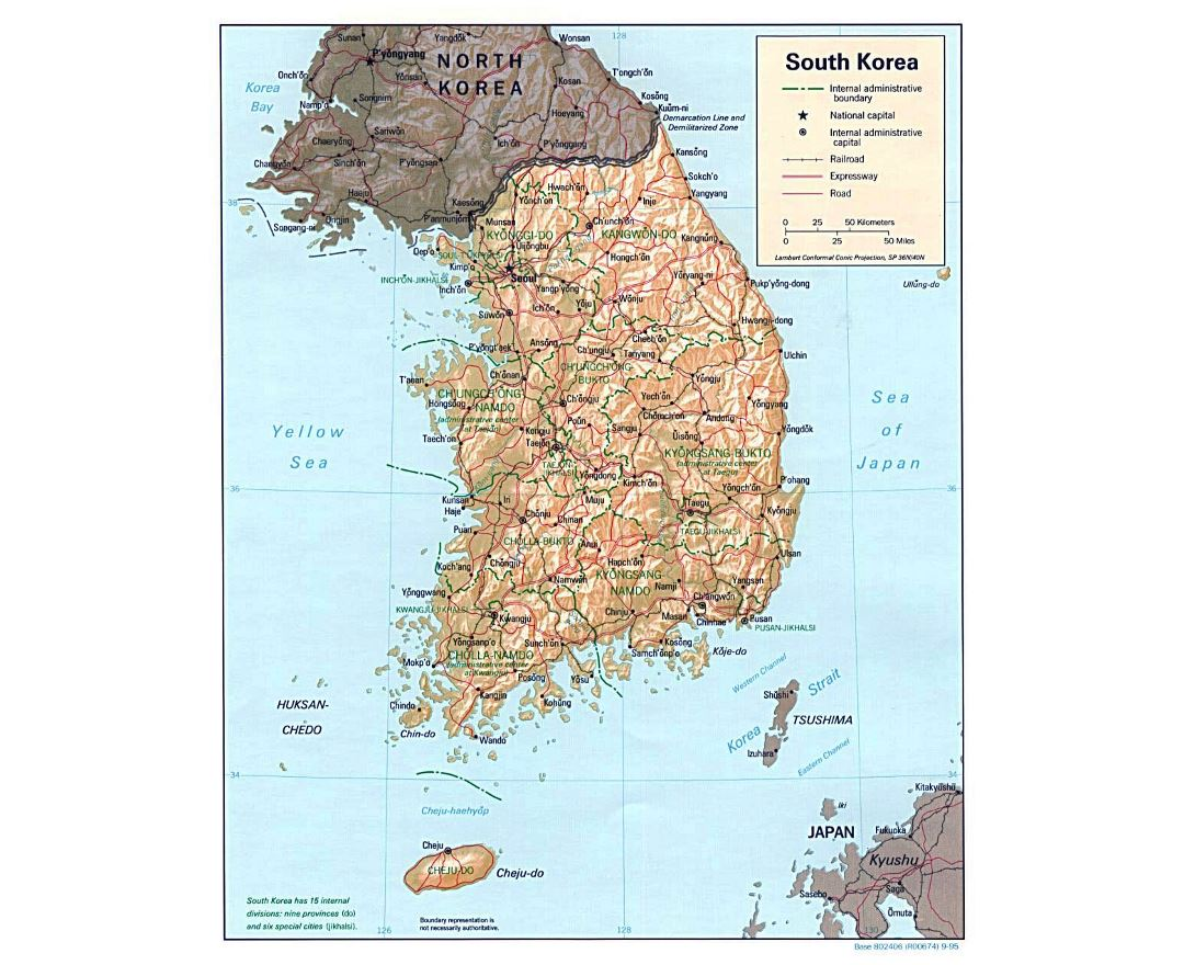 Maps Of South Korea Detailed Map Of South Korea In English - Map of south korean cities