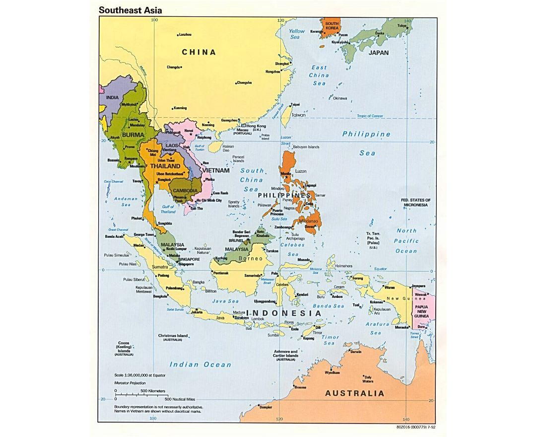 Maps of Southeast Asia | Collection of maps of Southeast Asia | Asia ...