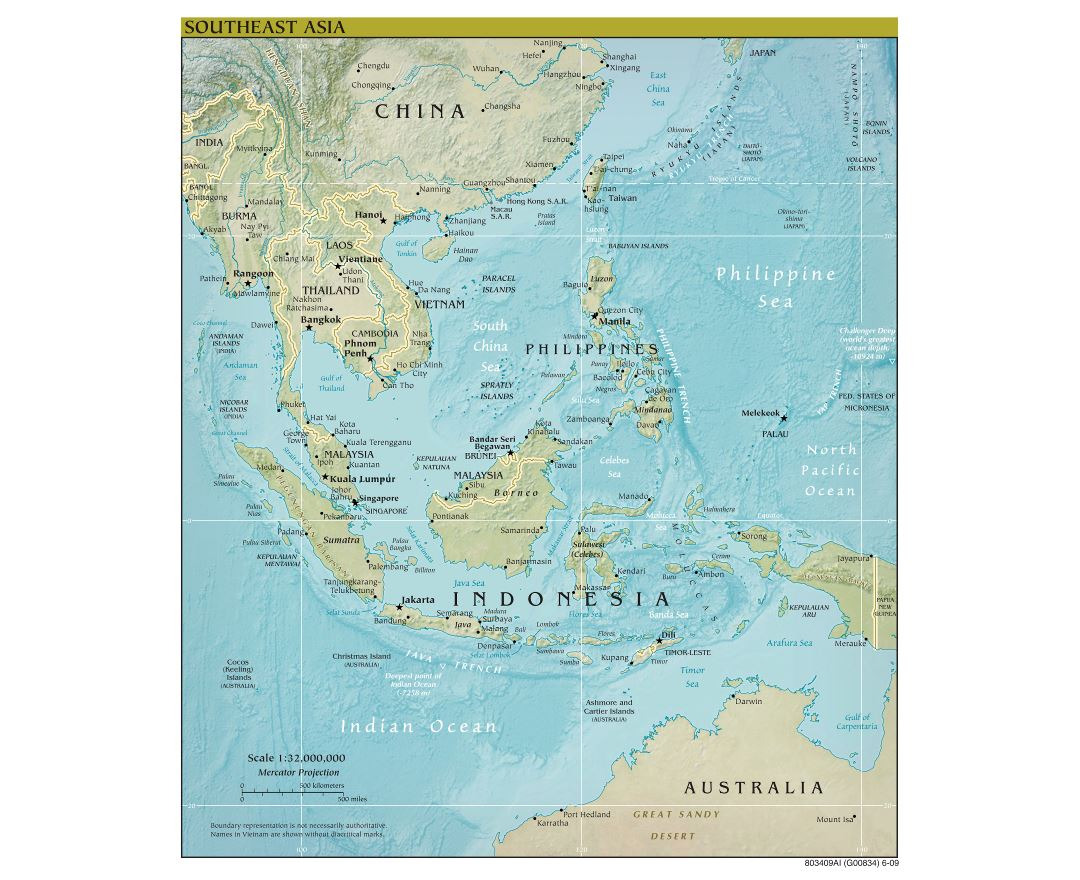 Political Map Of Southeast Asia With Capitals.Maps Of Southeast Asia Collection Of Maps Of Southeast Asia Asia