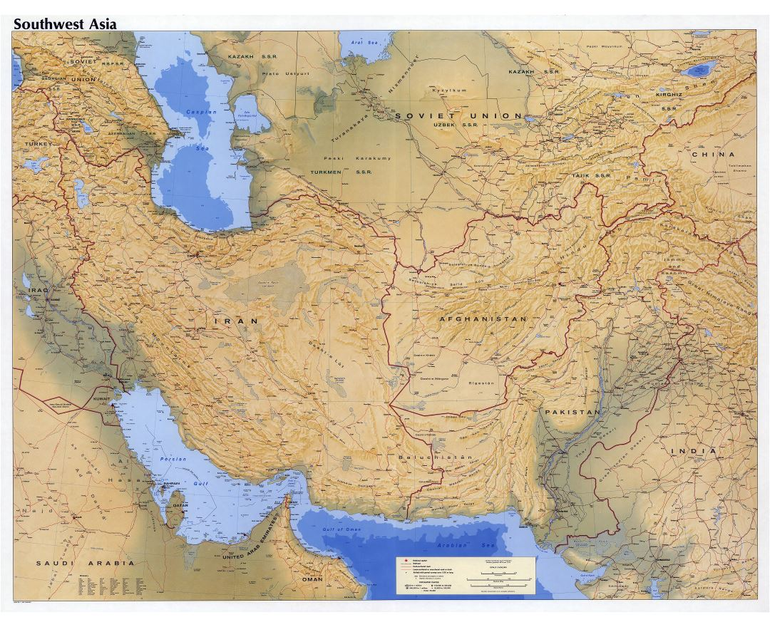 Maps of Southwest Asia (Southwest Asia maps) | Collection of ...