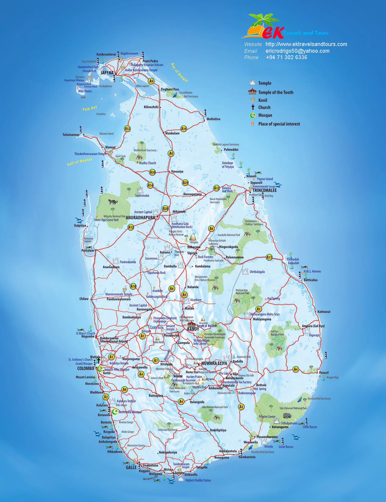 Map Of Asia Sri Lanka.Large Tourist Map Of Sri Lanka With Other Marks Sri Lanka Asia