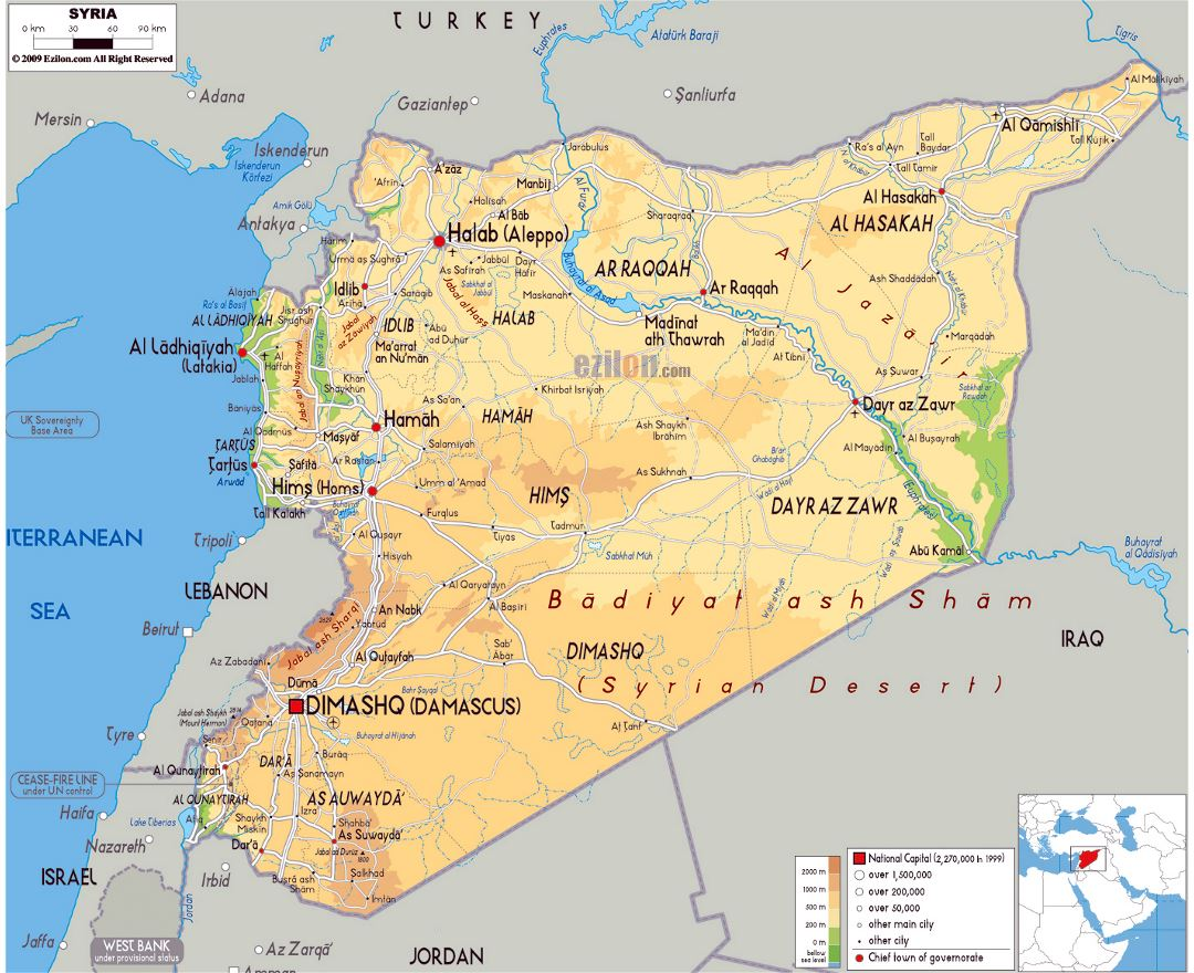 Maps of Syria Detailed map of Syria in English Tourist map