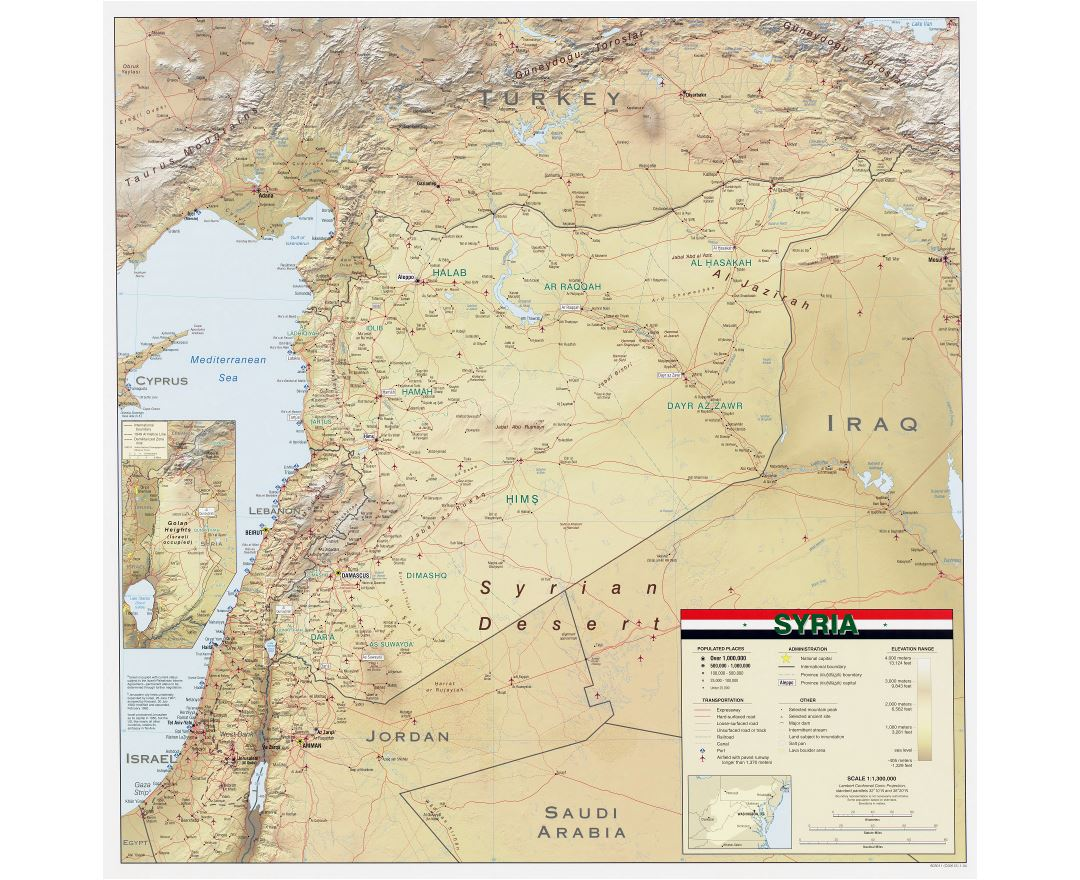 Maps Of Syria Detailed Map Of Syria In English Tourist Map - Map of egypt and syria