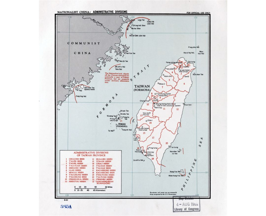 Maps of Taiwan Detailed map of Taiwan in English Tourist map