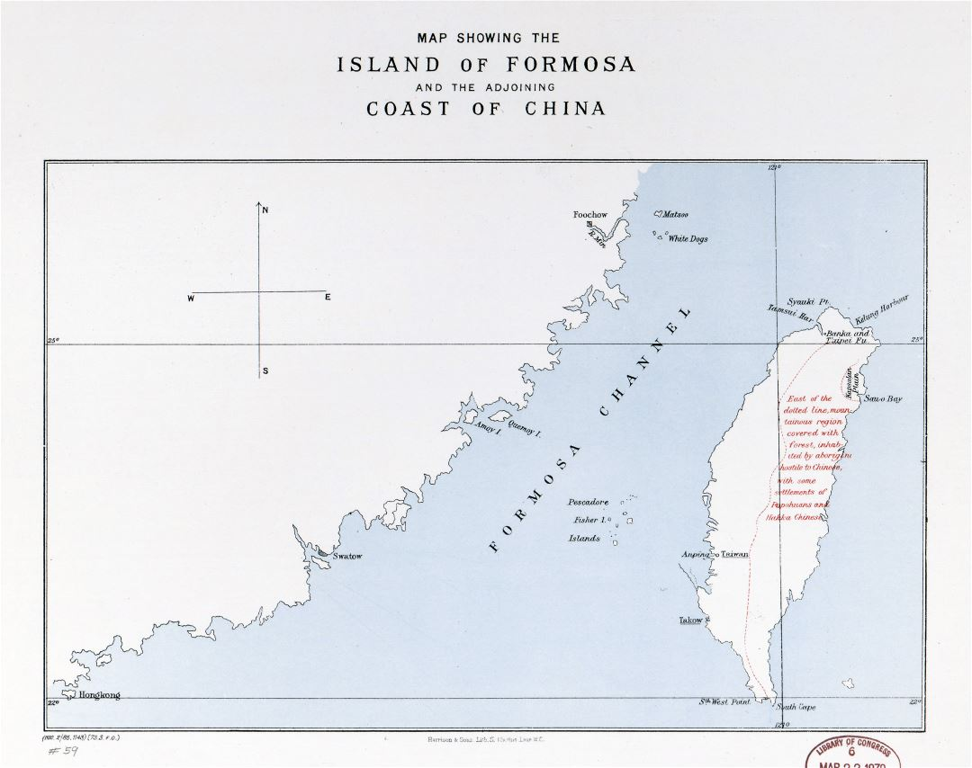 Large detailed map of the island of Formosa and the adjoining coast of China - 1978