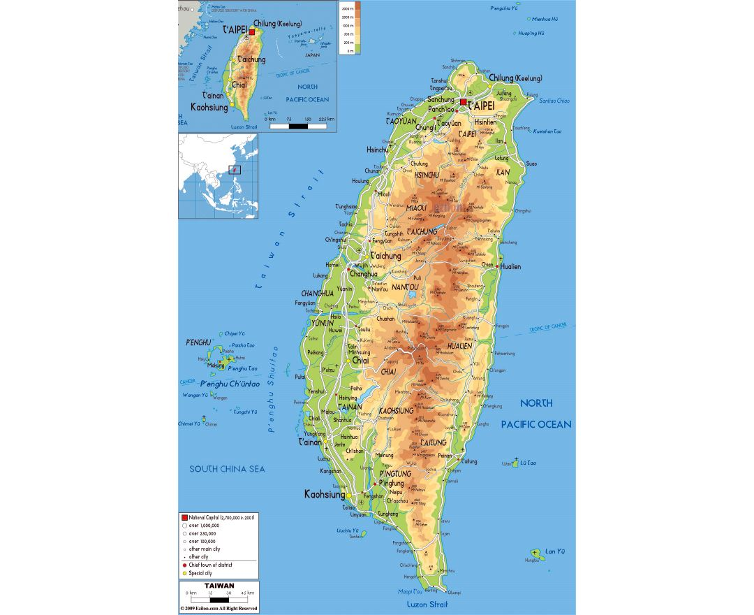 Maps Of Taiwan Detailed Map Of Taiwan In English Tourist Map - Map of taiwan
