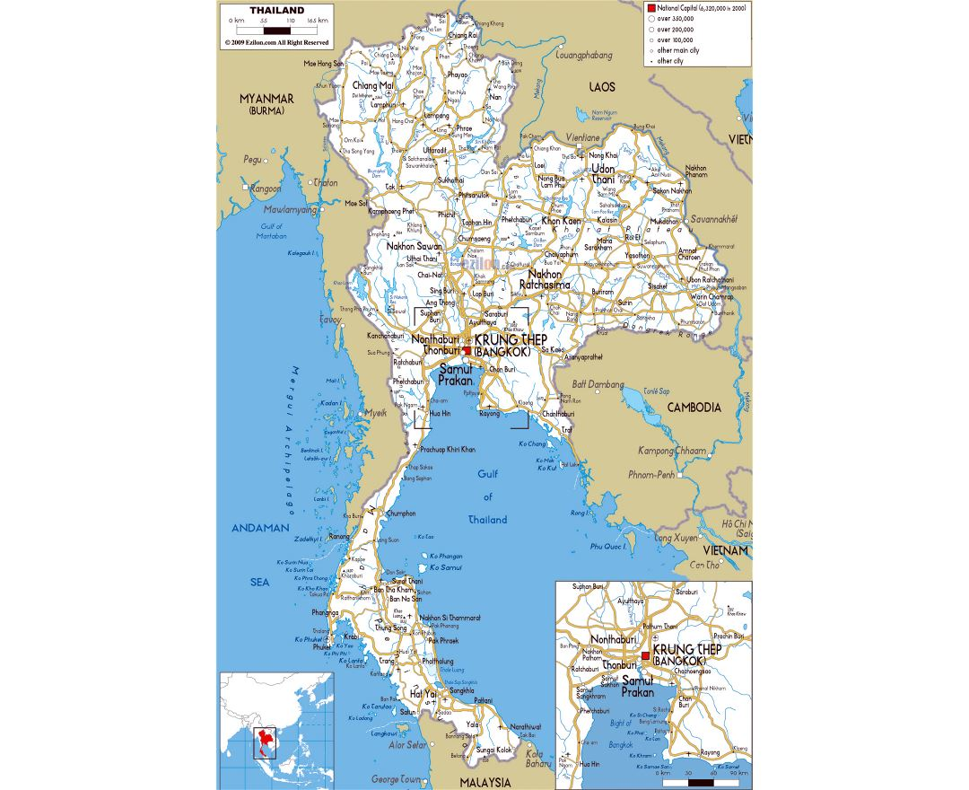 Maps of Thailand Detailed map of Thailand in English Tourist map