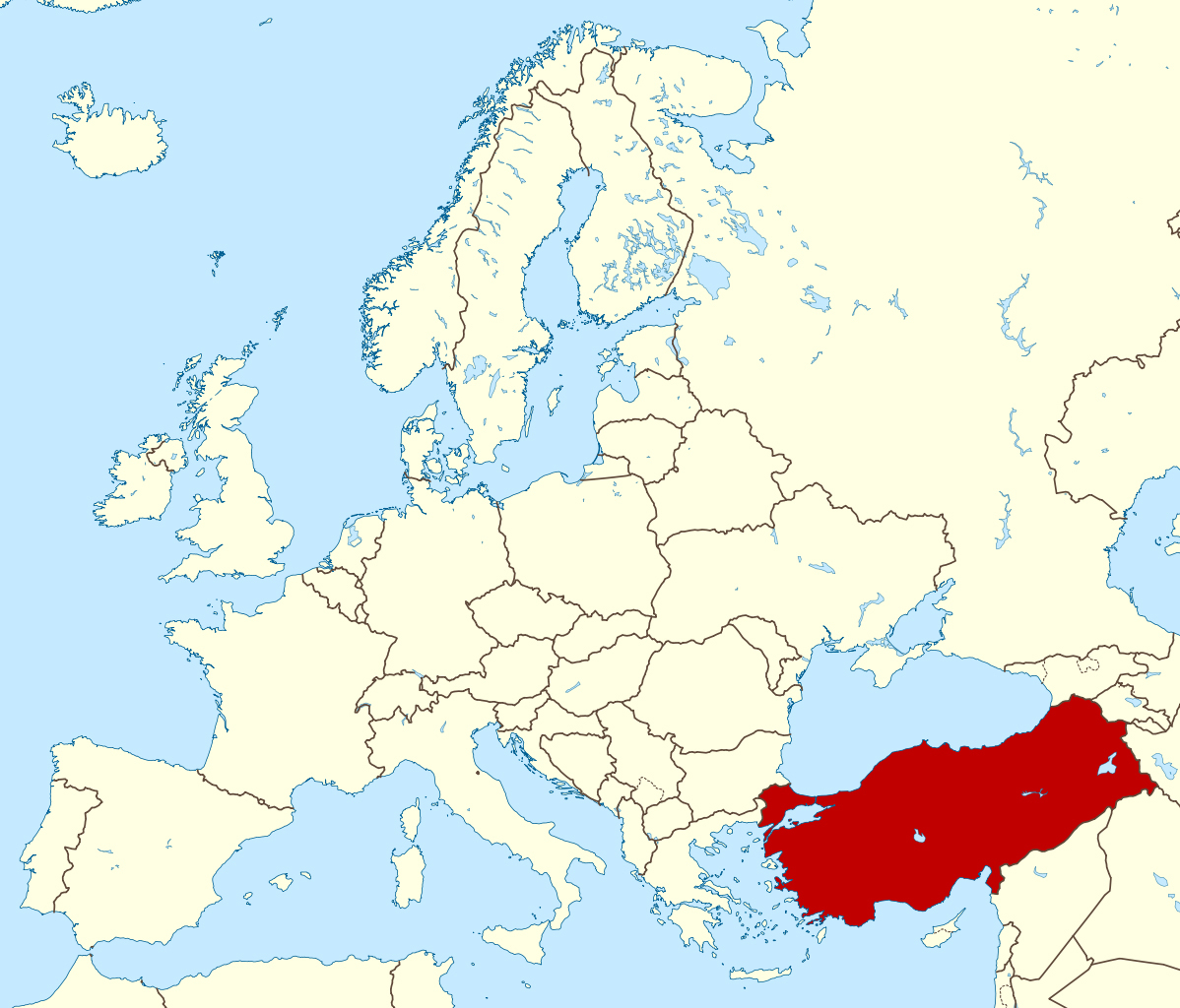 detailed location map of turkey in europe turkey asia