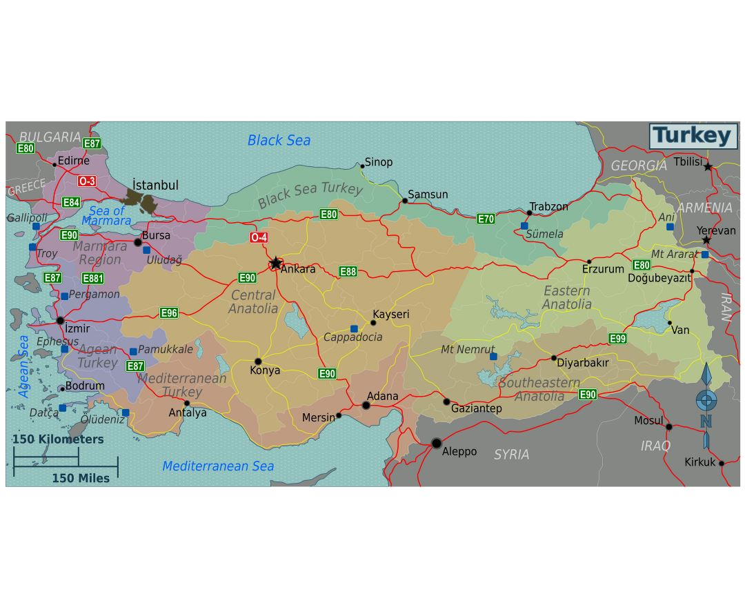 Maps of Turkey Detailed map of Turkey in English Tourist map