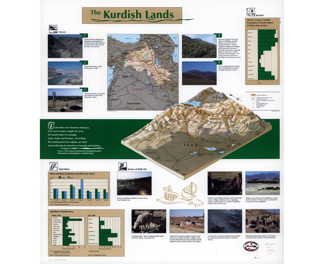 Large scale map of the Kurdish Lands - 1992