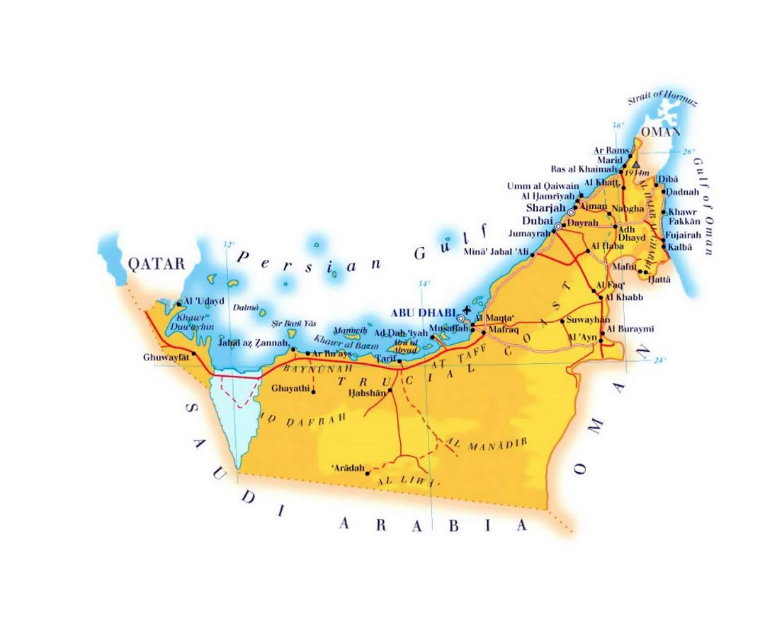 Maps Of United Arab Emirates Collection Of Maps Of Uae Asia Mapsland Maps Of The World