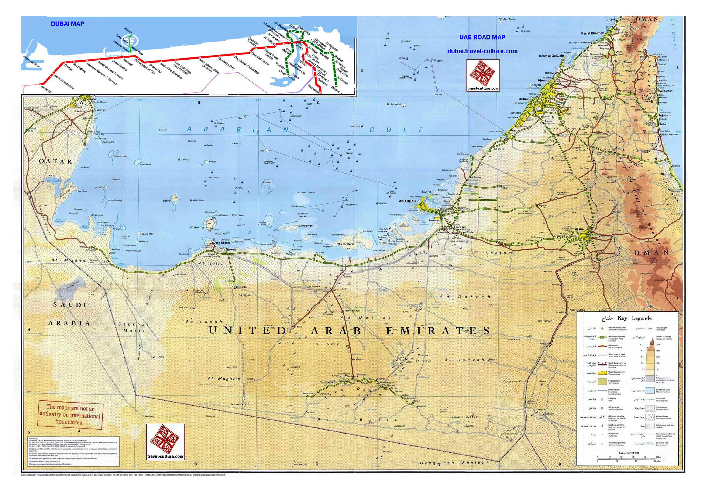 Detailed road and elevation map of UAE | UAE (United Arab ... on afghanistan world map, sierra leone world map, norway world map, bahrain world map, china world map, persian gulf map, uganda world map, uzbekistan world map, slovakia world map, arabian sea world map, jordan world map, cambodia world map, austria world map, iraq world map, sudan world map, middle east map, cyprus world map, guatemala world map, pakistan world map, kuwait world map,