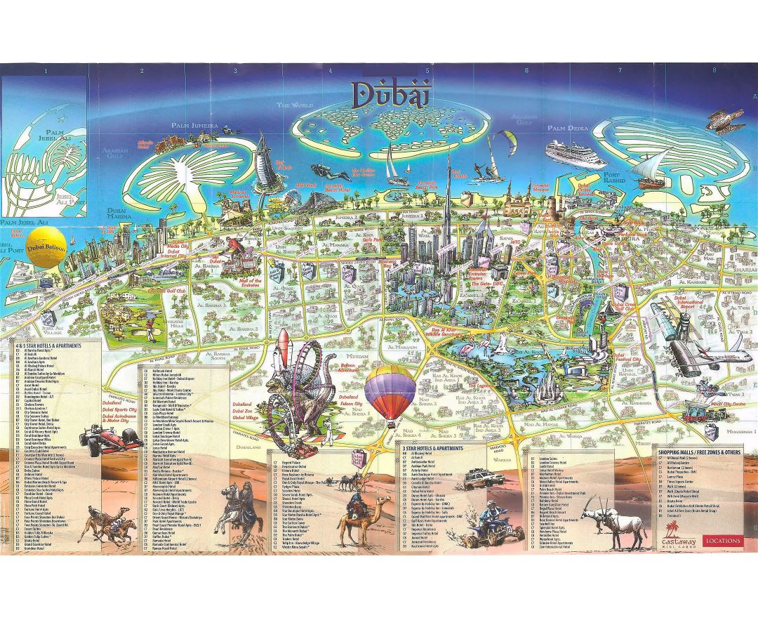 Maps of Dubai  Detailed map of Dubai in English  Tourist map