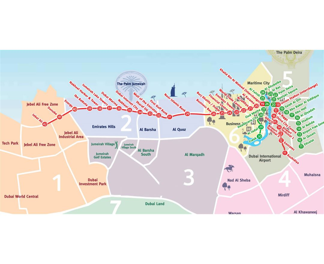 Maps of dubai detailed map of dubai in english tourist map large metro map of dubai gumiabroncs Gallery