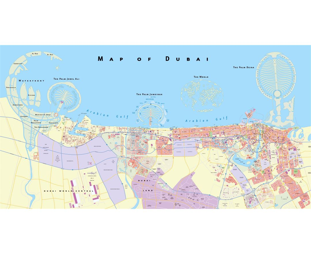 Maps of dubai detailed map of dubai in english tourist map large scale detailed road map of dubai city gumiabroncs Gallery