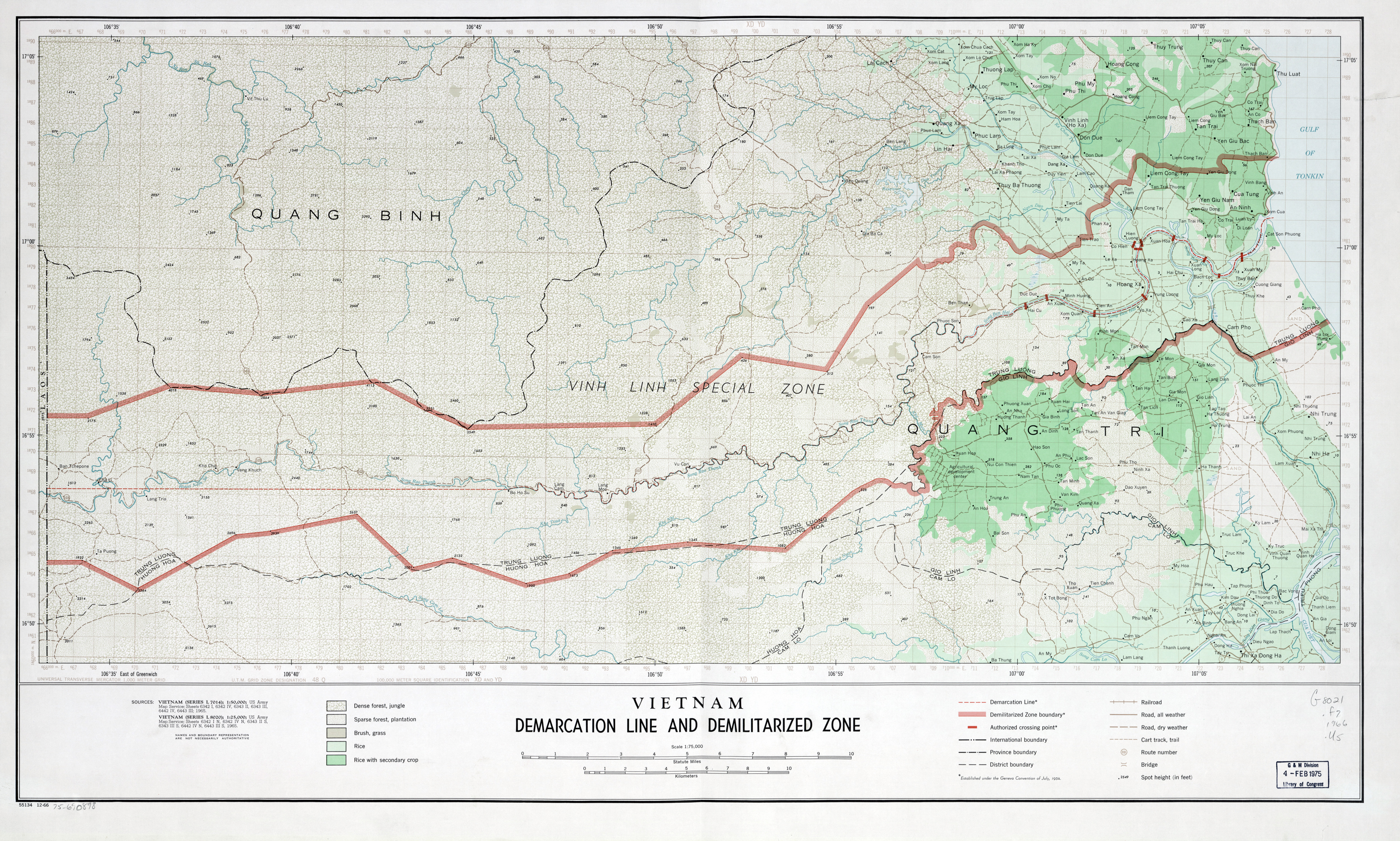 Large Detailed Vietnam Demarcation Line And Demilitarized Zone Map