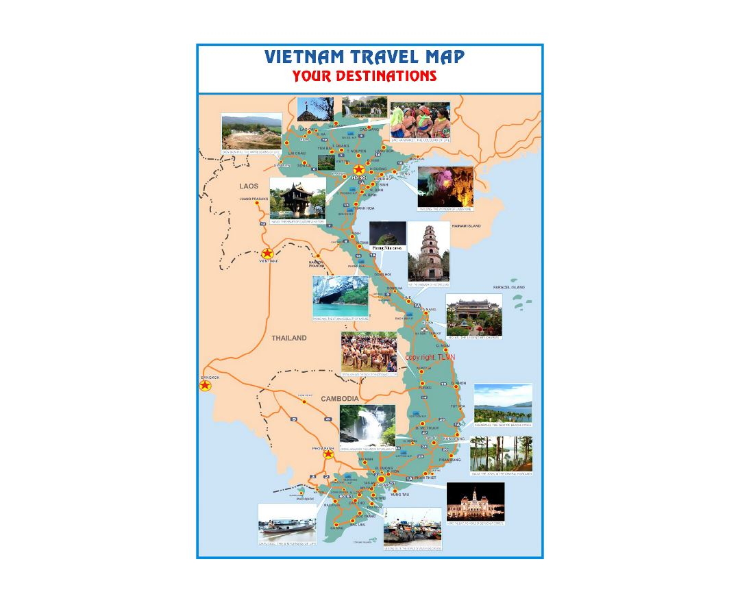 Travel map of Vietnam