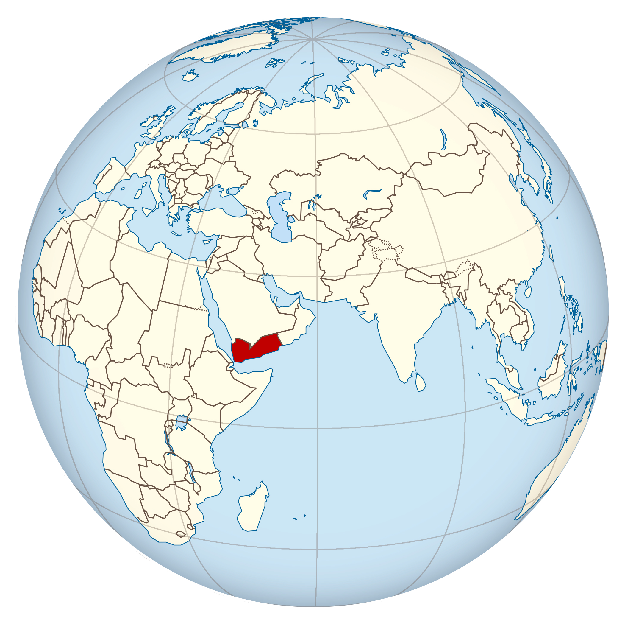 Location Of Yemen On World Map.Large Location Map Of Yemen Yemen Asia Mapsland Maps Of The