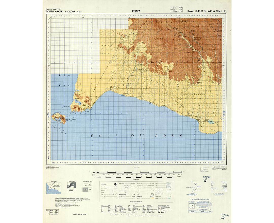 Large scale detailed map of Aden protectorate - 1958