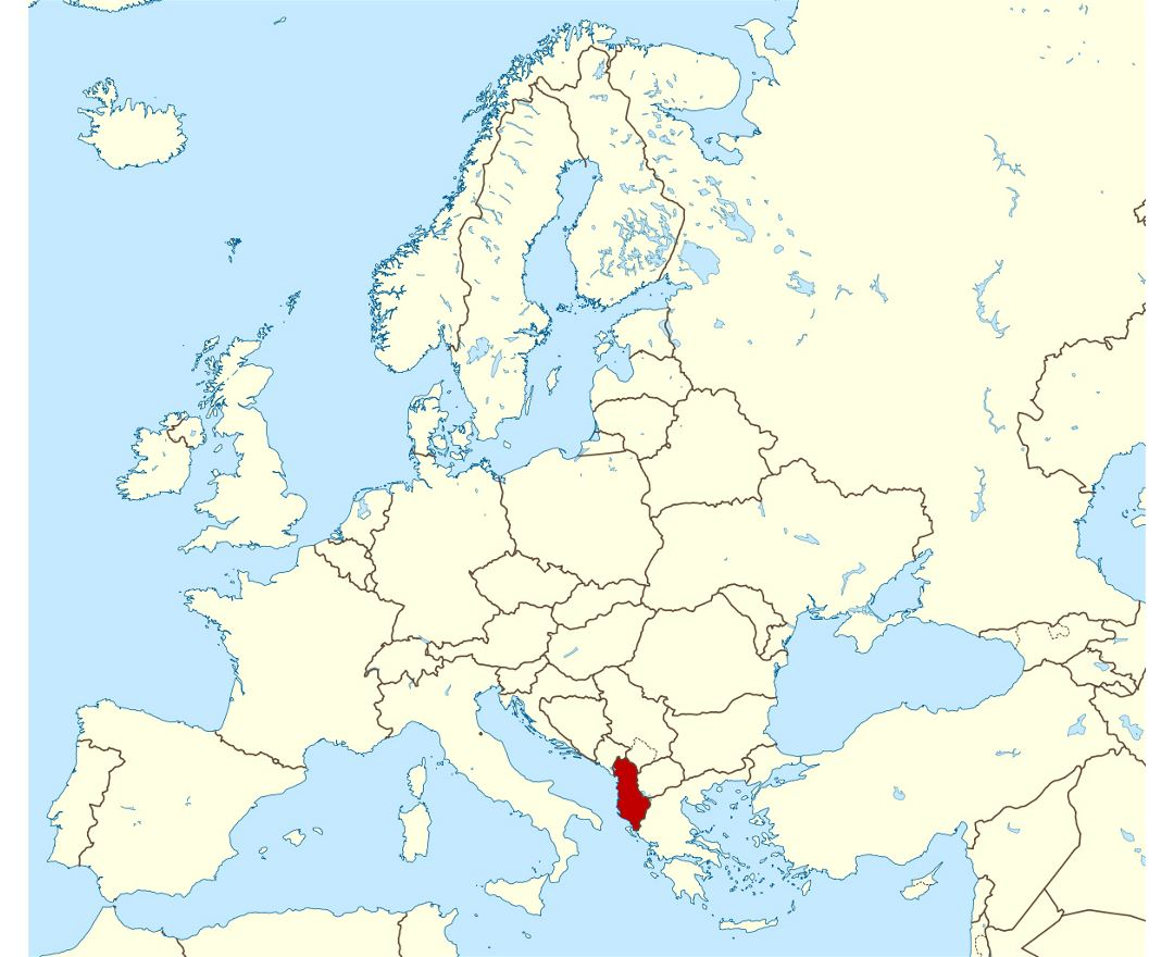 Where Is Albania Where Is Albania Located In The World Albania