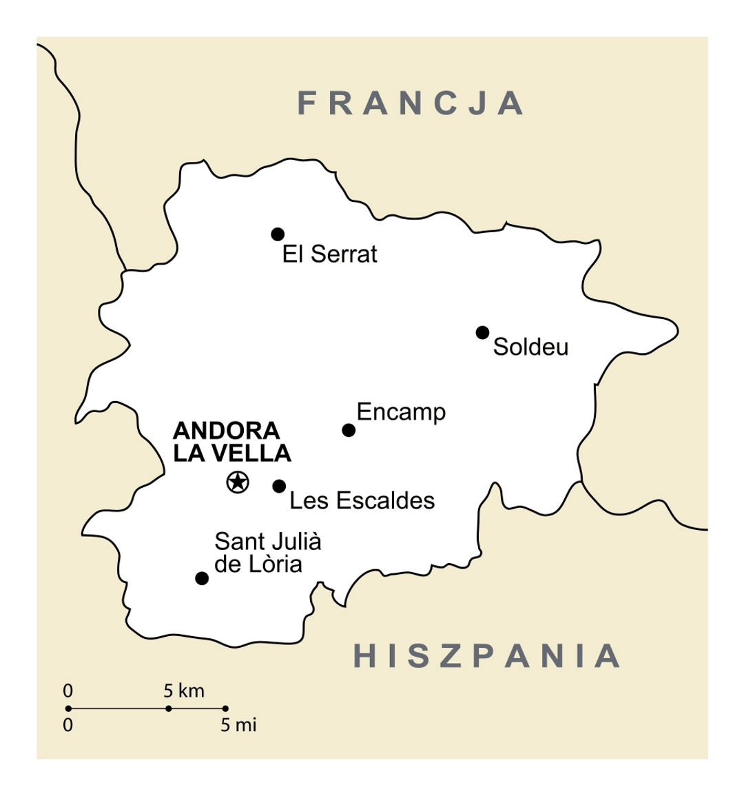 Large political map of Andorra