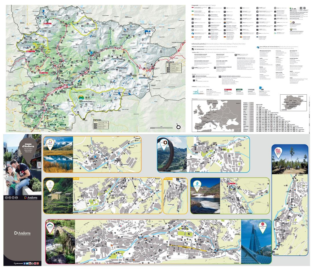 Large scale tourist map of Andorra