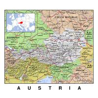 map of austria and surrounding countries Detailed Map Of Austria And Surrounding Countries With Borders Austria Europe Mapsland Maps Of The World map of austria and surrounding countries