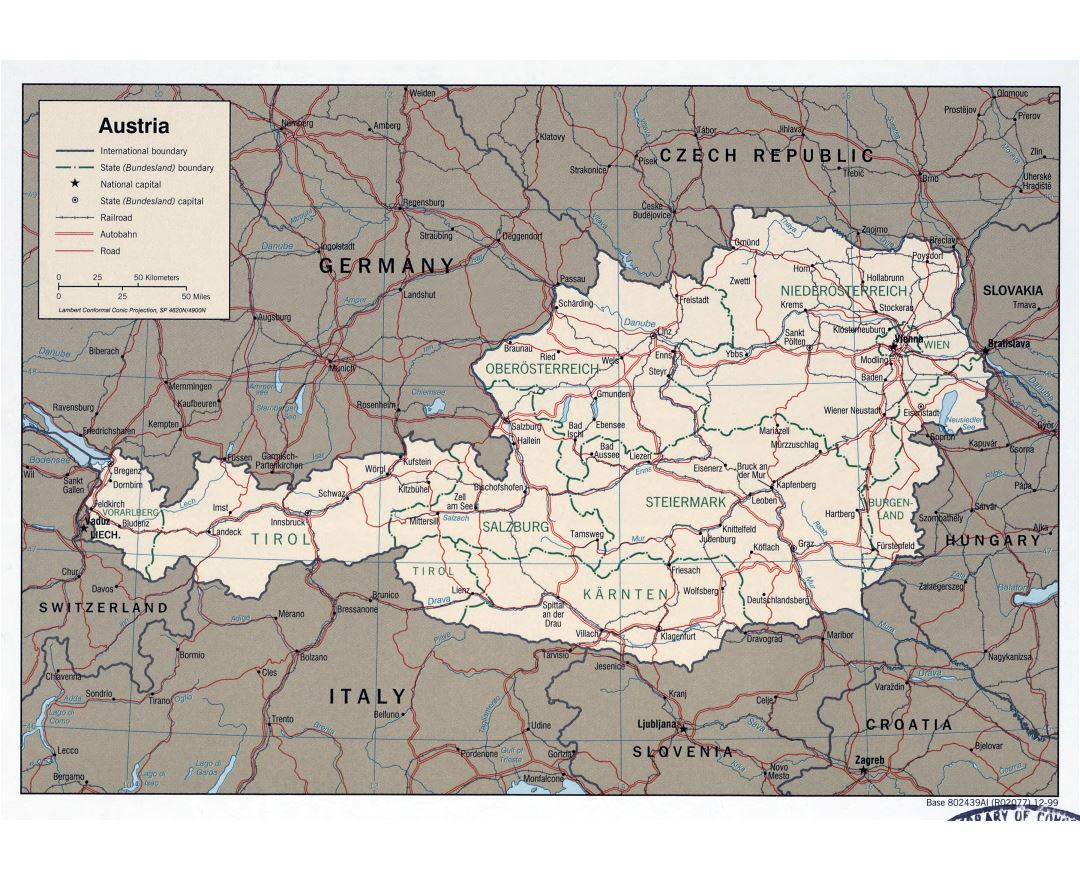 Maps Of Austria Detailed Map Of Austria In English Tourist Map - Austria major cities map