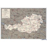 Large scale detailed political map of Austria with roads ... on middle east map 1945, france map 1945, ukraine map 1945, canada map 1945, cambodia map 1945, east asia map 1945, soviet union map 1945, japan map 1945, china map 1945, bessarabia map 1945, india map 1945, united states map 1945, israel map 1945, nazi germany map 1945, europe map 1945, czechoslovakia map 1945, world map 1945, finland map 1945, thailand map 1945, italy map 1945,