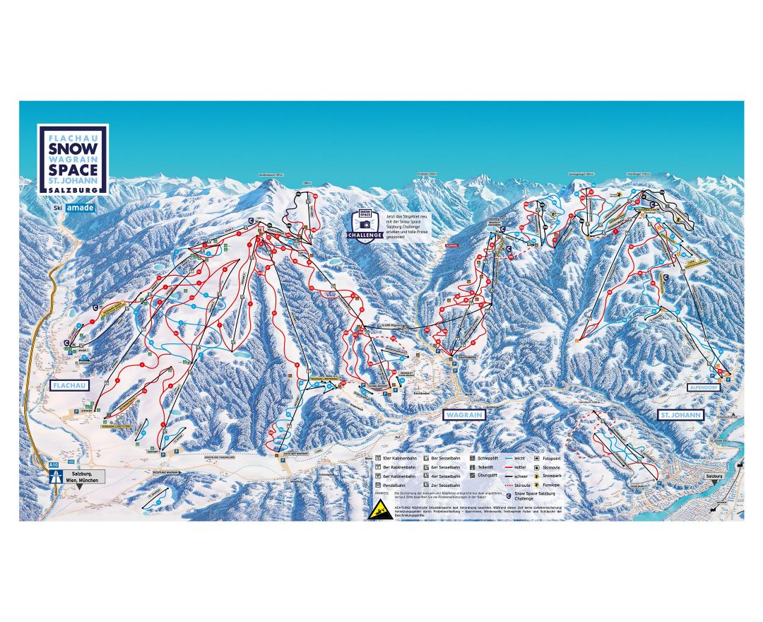 Maps of Salzburg Sportwelt Ski Resort | Collection of maps of ...
